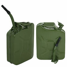 5 Gallon Gas Tank (2 Pack), Backup Metal Steel Tank, Spill Proof Jerry Can, Army