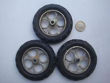 Lot de 3 roues pour jouet ancien tracteur cij renault Vébé Kléber Colombes 9-36