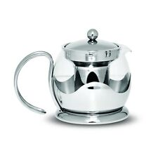 Sabichi 750 ml Glass Teapot with Infuser Stainless Steel Mirror Brand New
