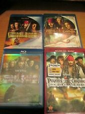 Pirates of the Caribbean 1 2 3 4 (Blu Ray) Free Shipping 4 Movies