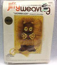 Sunset Jiffy Weaving Kit Leonard Lion 3431 Designed by Betty Miles 1977 New