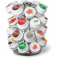 Keurig KOLD Wire Carrousel Pod Storage Silver Holds 32 Pods