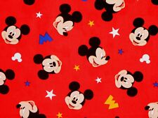 FAT QUARTER  DISNEY MICKEY MOUSE HEAD TOSS  SPRINGS CREATIVE 100% COTTON FABRIC