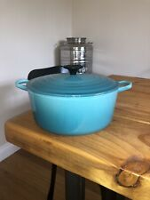 Le Creuset 24cm Teal Casserole Dish With Lid