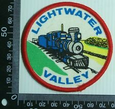 VINTAGE LIGHTWATER VALLEY EMBROIDERED SOUVENIR PATCH WOVEN CLOTH SEW-ON BADGE