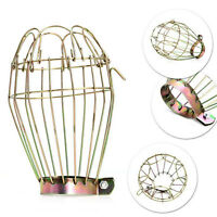 Metal Wire Bulb Cage Clamp On Lamp Guard Vintage Trouble Lights Bulb Cage -