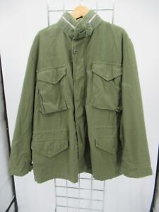I9881 VTG Intercon Apparel US ARMY M-65 Cold Weather Field Military Jacket Sz M
