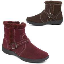 NEW LADIES FAUX FUR GRIP SOLE WOMEN WINTER SNOW THERMAL ANKLE BOOTS WEDGE SHOES