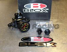 Blox Competition 3 Port Adjustable Fuel Pressure Regulator Black w/ 6AN Fittings