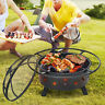30in Outdoor Fire Pit Stars Moons Firepits Fireplace Wood Burning Heater w/