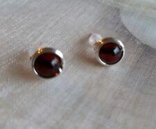 Genuine Cherry Amber Sterling silver 925 handmade stud earrings - bridesmaids