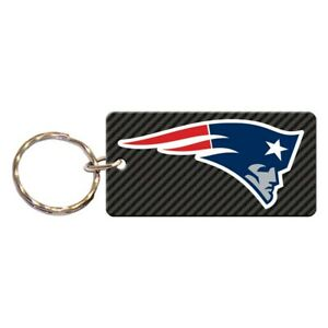 NEW ENGLAND PATRIOTS CARBON RECTANGLE ACRYLIC KEY RING NEW WINCRAFT