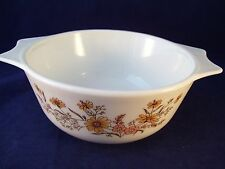 Vintage Pyrex Country Autumn Casserole Dish Made in England No Lid