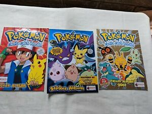vintage Pokemon sticker albums 1-3 incomplete, merlin collections M