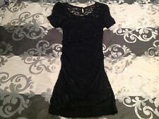 Mojito lace bodycon pencil stretch dress size 10 black city beach ruched fitted