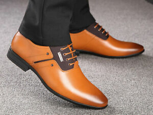 Men's Faux Leather Formal Leisure Business Round Toe Oxford Occupational Shoes
