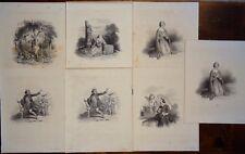 Incisione gravure antique print Lot Achille DEVERIA Lithographie Formentin