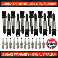 12x Genuine NGK Platinum Spark Plugs & 12x Ignition Coils for BMW 760Li E66