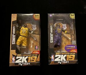 LeBron James NBA 2K19 McFarlane Action Figure Set  Lakers 20th Anniversary