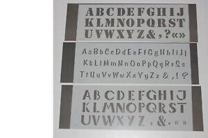Pochoir plastique lettre alphabet version au choix :