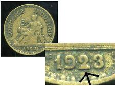 50 centimes chambre de commerce 1923 ( VARIETE   la queue du 2 et bouché  )