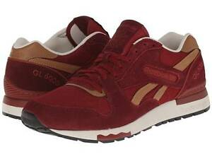 REEBOK V62600 GL 6000 CASUAL Mn's (M) Mulberry/Red Mesh/Suede Lifestyle Shoes