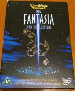 Walt Disney - The Fantasia Collection (DVD, 2012, 3-Disc Collectors Box Set)
