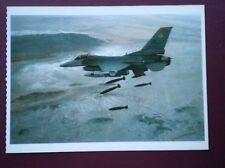 POSTCARD AIR LOCKHEED MARTIN F-16 FIGHTING FALCON MODERN MILITARY AIRCRAFT