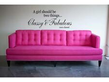 CLASSY & FABULOUS coco chanel Wall Decal Lettering Quote Stencil Sticker 24""