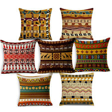 18x18 Inches Ethnic African Series Throw Pillow Case Linen Fabric Cushion Covers