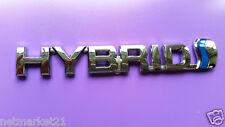 Toyota HYBRID Badge Emblem 3D ABS Chrome Logo Car Sticker RAV4 Prius Auris Yaris