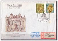 DDR, FDC + Einschreiben MiNr. 3318 - 3319 ESSt Berlin 06.03.1990 echt gelaufen