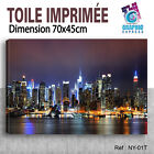 100x50cm- Kit 4 TOILES IMPRIMEE TABLEAU TOILE DECO - NEW YORK-NY-01 -4T04