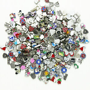 Wholesale 100pcs Lot Mixed Floating Charms For Glass Living Memory Glass Locket