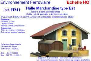 Colinter Productions : maquette HO - Halle Marchandises  type Est  - HM1
