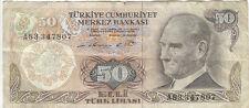 50 Lirasi, Turkey, N° A 83347807, TURKIYE CUMHURIYET MERKEZ BANKASI