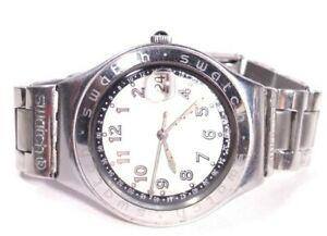 Vintage Swatch Irony Watch Happy Joe Silver Ygs413g Steel Case Bracelet Band