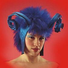 Lady Devil Perruque Avec Cornes Bleues Type Diable Démon perruque insecte bleu