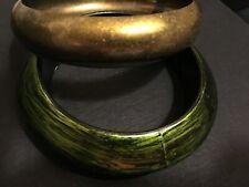 Two Chunky Bangle Bracelets Vintage Estate Lot Of