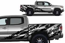 Custom Vinyl Decal SHRED Wrap for 4D ShortBed 16-17 Toyota Tacoma TRD Flat Black