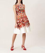 hobbs cream ivory red nia print dress Size 12