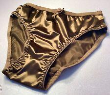 Women Panties Bikinis ANN DIANE Size 3XL GreenBlue Shiny Satin Soft W//decoration