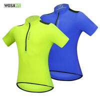 Mens Pro Cycling Jersey Short Sleeve Half Zipper MTB Road Bike Tops Sportswear