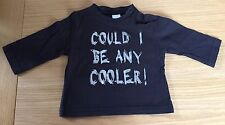Baby Boys Adams Black T-shirt Size 0-3 Months
