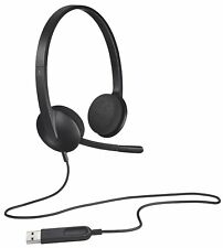 Logitech H340 USB Headset with Noise-Reducing Microphone for PC Gaming and Mac