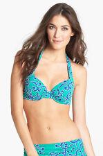 Tommy Bahama Bikini Top 32C Blue Green Ocean Swirl Underwire Swimwear NEW