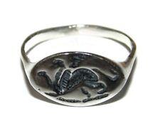 Artisan Unisex 925 Greek Egypt Chimera Mythological Creature Signet Pinky Ring