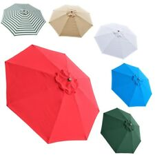 9FT Patio Umbrella Canopy Top Cover Replacement ONLY 8 Ribs Market Outdoor Yard