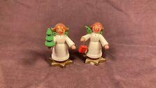 Vintage Wood Angel Figures Christmas Germany Erzgebirge Expertic Steinbach Kuhn