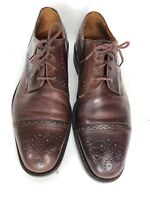 Johnston & Murphy Brown Cellini Oxford Cap Toe Mens Size 9 Dress Shoes Italy B9